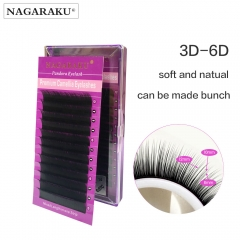 NAGARAKU  New material 12 rows Volume Eyelash Extensions Mixed Length in One Lash Strip Camellia Eyelash