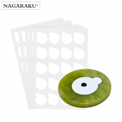 NAGARAKU 5 sheets and 1stone eyelash extensions glue holder jade stone holder glue pallet glue stand pads for eyelash extensions