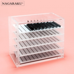 NAGARAKU  Acrylic False Eyelashes Eye Lashes Storage Box Volume lash storage Makeup tools Case Organizer Transparent 250 strips