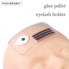 NAGARAKU Silicone Eyelash Extension Stand Pallet Pad Lash Tray Holder Tool Clear lash Holder Forehead sticker  silica gel