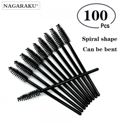 NAGARAKU Wholesale 100pcs Mascara Eyelash Make Up Brush ,Disposable Mascara Wand ,Mascara wand brushes