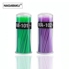 NAGARAKU100Pcs/Pack Hot Lint Disposable Makeup Brushes Individual Lash Removing Tools Swab Micro brushes Eyelash Extension Tools