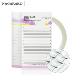 NAGARAKU make up Eyelash extension Storage card Premade fans Volume lash storage 2mm sticky strip False Eyelashes paper card
