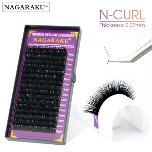 NAGARAKU N curl L mink eyelash individual makeup false lashes magnetic eyelashes maquillaje eyelash extension cilios LU shape